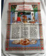 VINTAGE LINEN KITCHEN TOWEL TRADITIONAL IRISH BREAD RECIPES SODA FARLS B... - $17.77