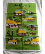VINTAGE LINEN KITCHEN TOWEL OLD BUNRATTY FOLK PARK SHANNON IRELAND - $17.77