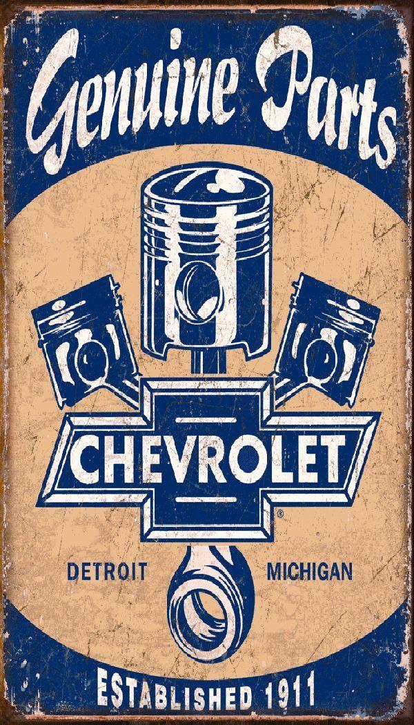 Chevy Parts Fridge Magnet