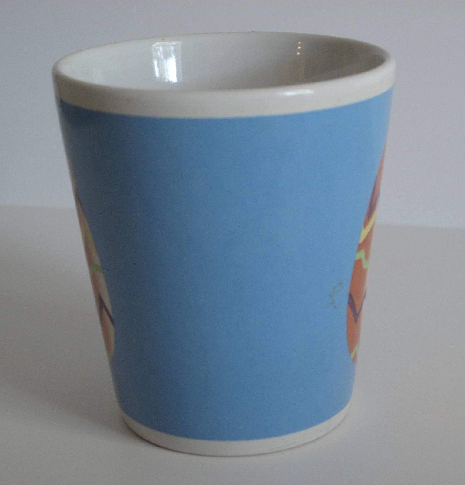 Easter Egg Multi-color Glass Mug 10 oz