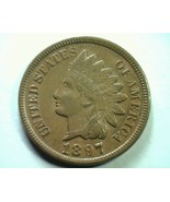 1897 S7 18/18 (e) INDIAN CENT PENNY CHOICE ABOU... - $425.00