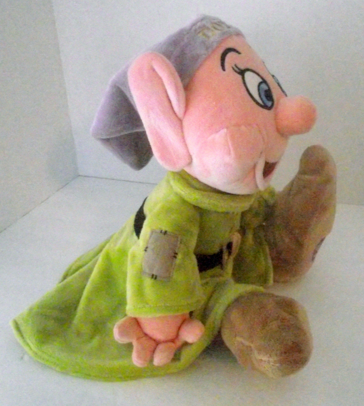 "Disney Store Dopey Plush Doll Toy Fleece 16"" Dwarf Seven Snow White FREE SHIP"