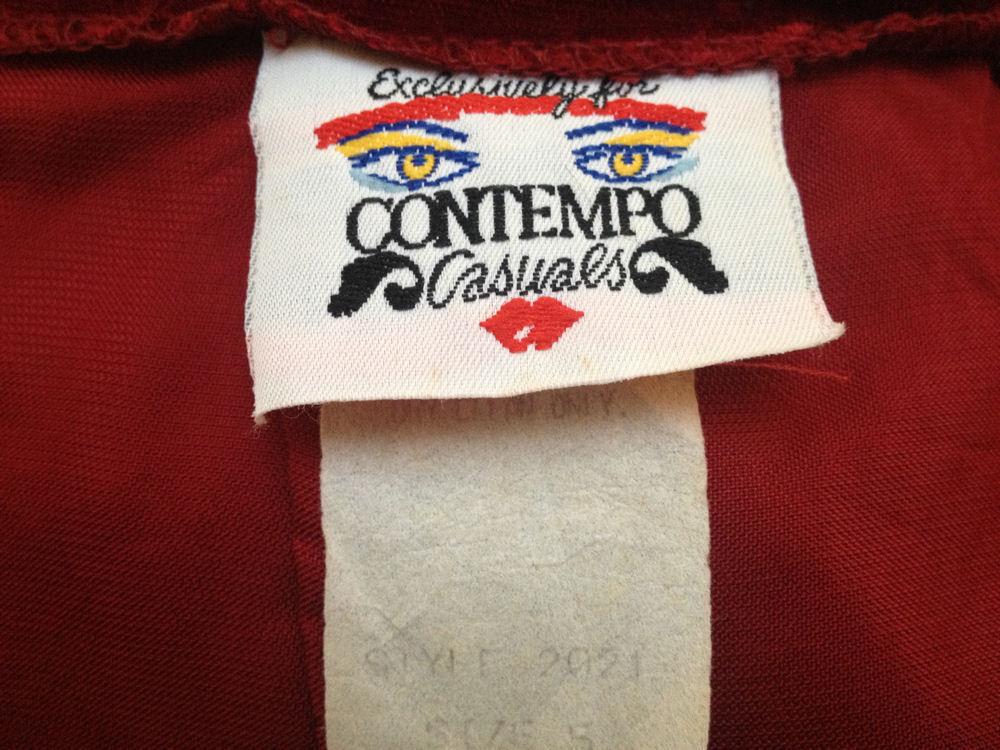 Vintage Burgundy Velvet Pencil Skirt Sz 5 XS Contempo Casuals Holiday