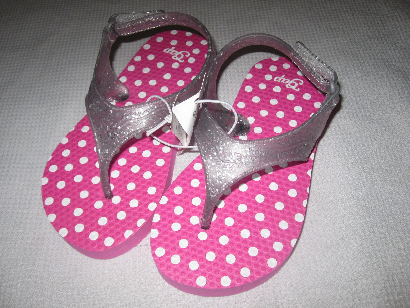 NWT Baby Gap Pink Polka Dot Flip Flop Sandals Sz 7,8,9,10