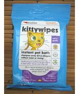 PETKIN KITTYWIPES KITTY WIPES PREWET MOISTENED SOFT GENTLE SHAMPOO NO WATER - $12.99