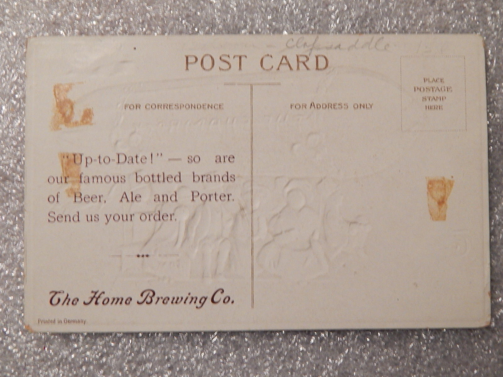 Antique .Ellen Clapsaddle St Patricks Day/Home Brewing Co Advertising Postcard