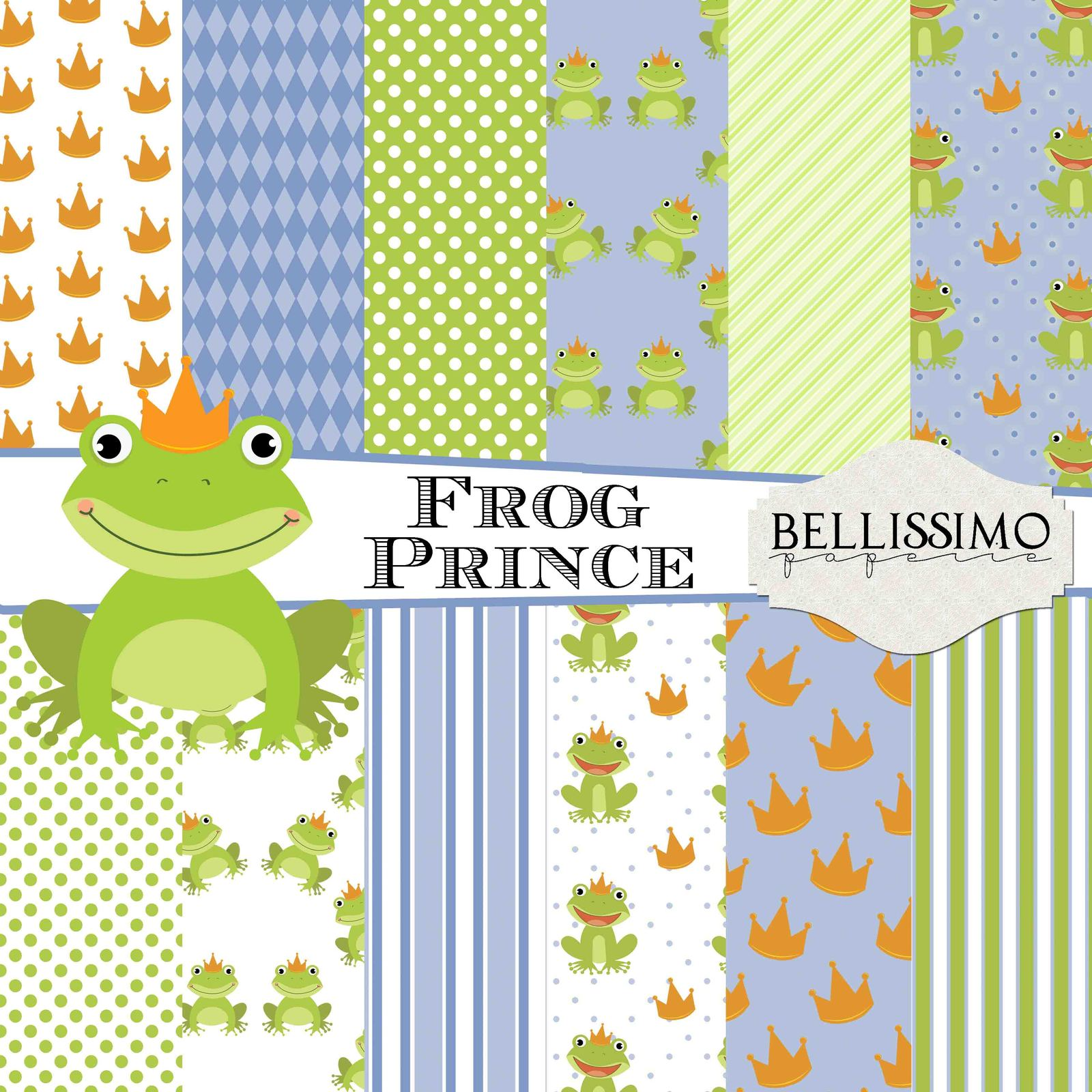 Frog prince paper package