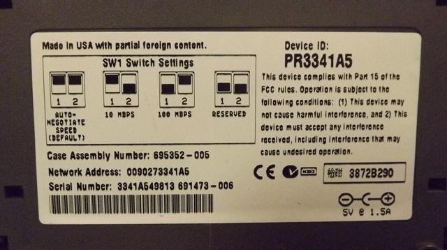 Lot of 2 Netport Express10/100 Intel PR3341A5