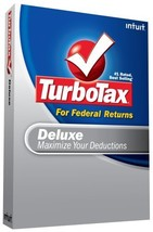 TurboTax Deluxe Federal + eFile 2008 [OLD VERSION] [CD-ROM] Mac OS X / W... - $6.92