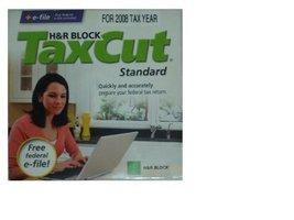 H & R Block TaxCut for Tax Year 2008 Standard [CD-ROM] Mac OS X / Windows XP ... - $9.89