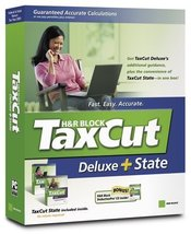 H&R Block TaxCut  Deluxe + State, 2005 Edition [CD] - $8.41