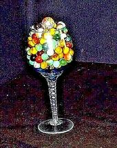 Group of 170 Marbles in Wine Glass with 1 Shooter AA18 - 1175M Vintage image 5