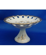 Older  Lefton Hand Painted Gilded Compote  Reticulated Footed Pedestal C... - $21.99