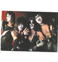 Kiss Gene Simmons PC Group Vintage 8X10 Color Music Memorabilia Photo - $6.99