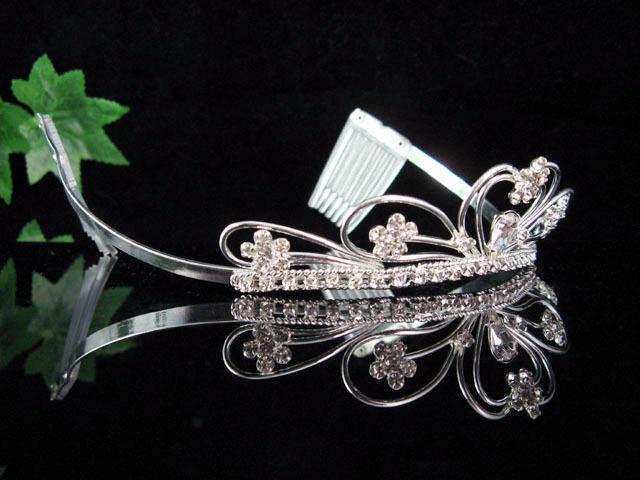 ELEGANT DAISY WEDDING TIARA,SWEETHEART BRIDE BRIDESMAID BRIDAL HEADPIECE 1399