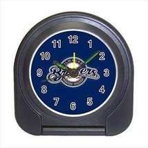 Milwaukee Brewers Compact Travel Alarm Clock (Battery Included) - MLB Baseball - $9.94