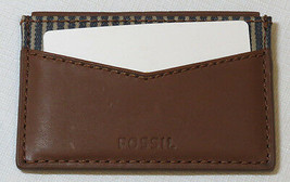 Fossil ML3811B201 Knox Card Case Dark Brown wallet leather mens credit ID - $30.61