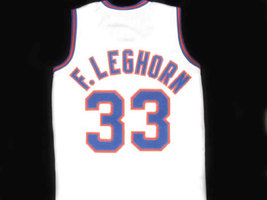 Foghorn Leghorn #33 Tune Squad Space Jam Movie Basketball Jersey White Any Size image 4