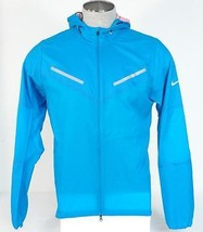 Nike Dri Fit Blue Cyclone Water Resistant Running Jacket Packable Mens NWT - $112.49