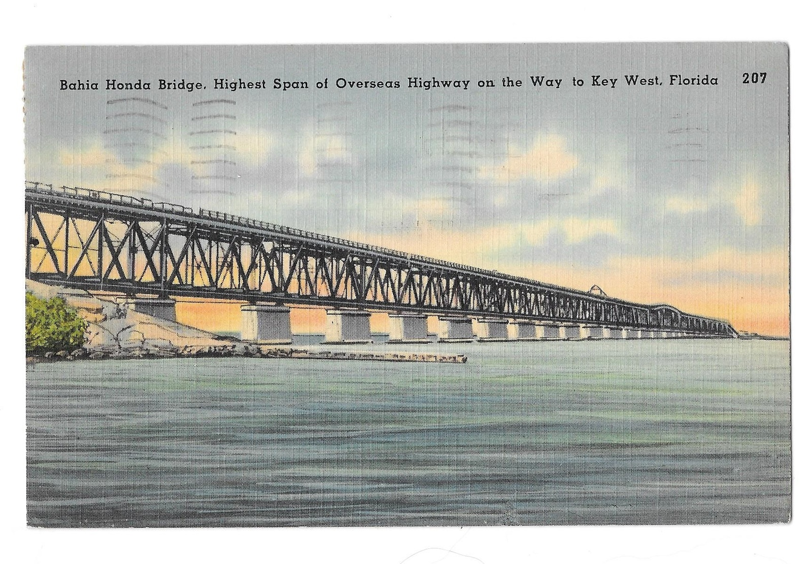 99 br 1925 1bx fl bahia honda bridge overseas highway linen