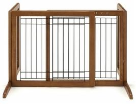 Richell Small Bay Isle Freestanding Pet Gate With Folds flat -Tall 961-9... - $164.92