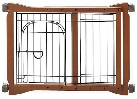 Richell Wood Pet Sitter Pet Gate With Rubber skid bottom 961-94111