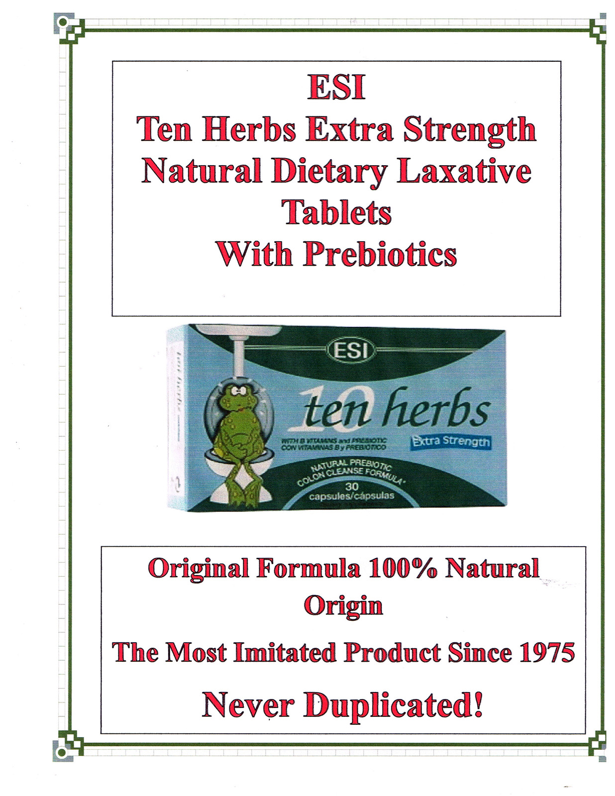 10 herbs extra stregnth