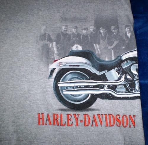 Harley davidson gray t shirt xl 1903   2003 wrap around graphic 6