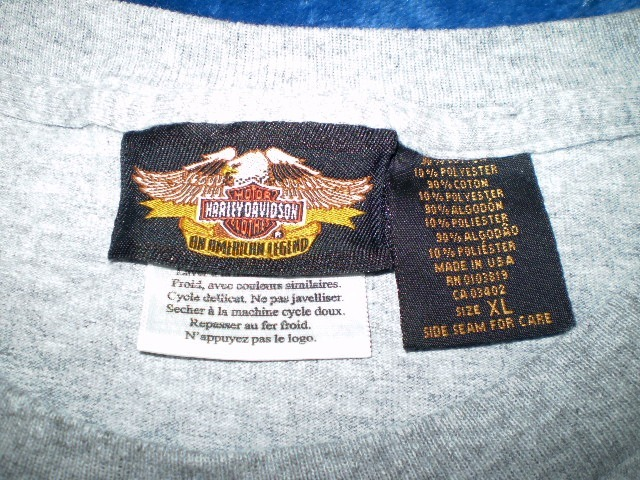 Harley-Davidson Gray Pocket T-Shirt XL 1903 - 2003 Wrap Around Graphic