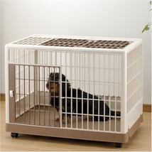 Richell Pet Training Crate Double Door And Lockable casters - Large 961-... - $200.91
