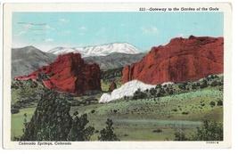 CO Pikes Peak Gateway Garden of the Gods Vintage Postcard Colorado - $4.74