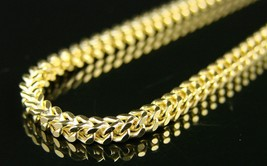 High Quality Stainless Steel Sharp Edge Gold Plated Franco Chain Necklace - $15.29