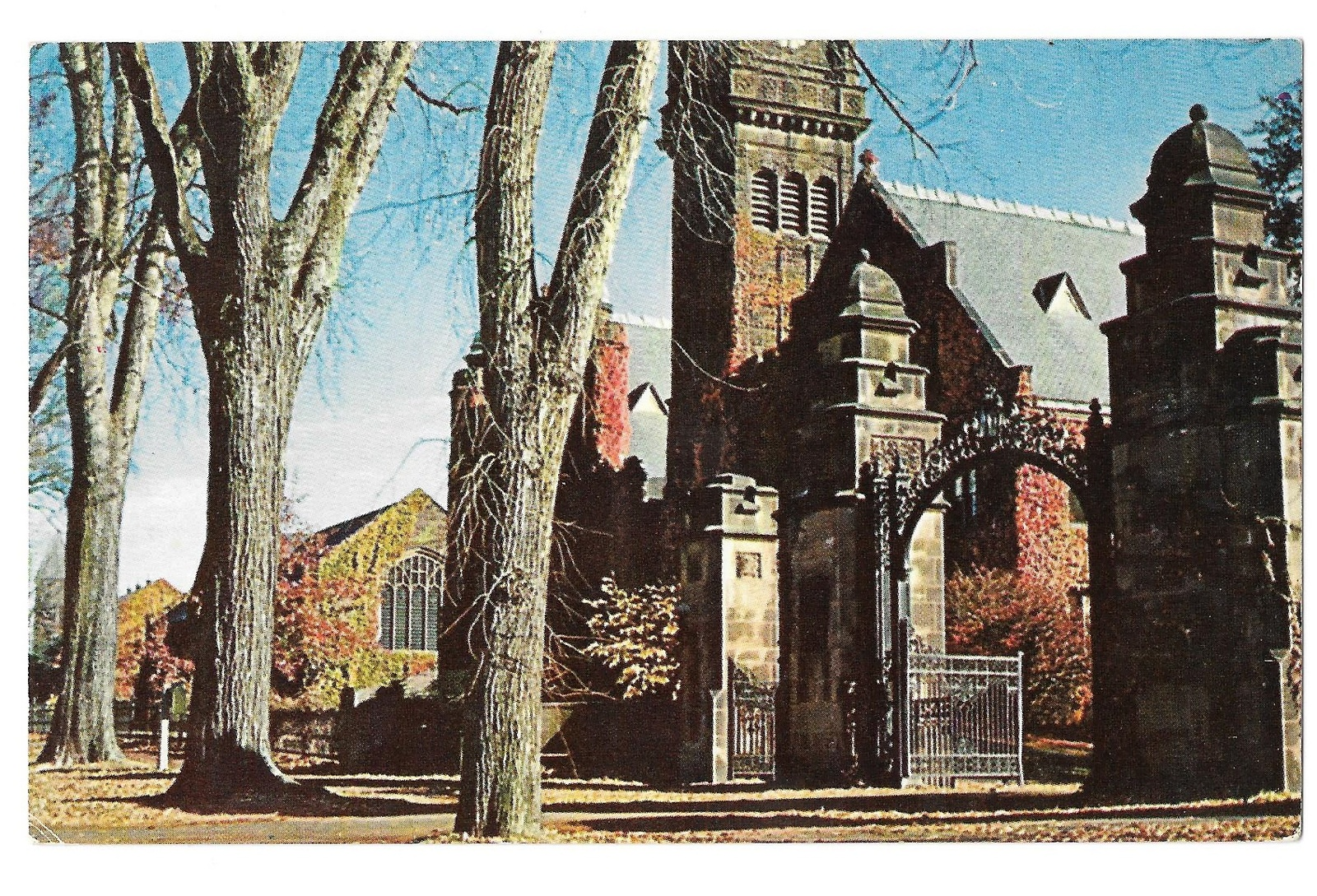 99 br 1925 1bx ma south hadley holyoke college mary lyon gate and tower