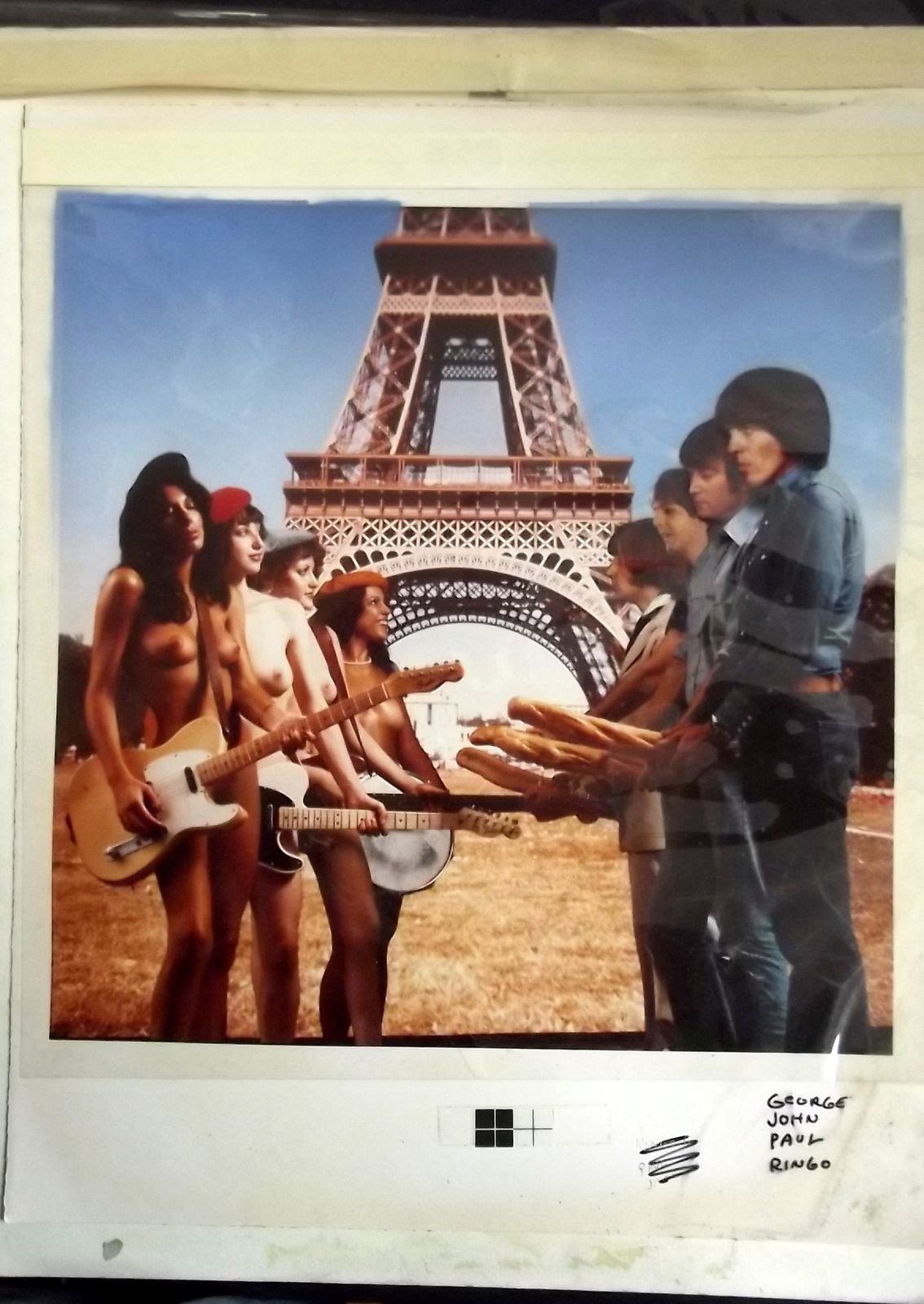 THE BEATLES (NATIONAL LAMPOON) ORIGINAL PARODY MONTAGE PHOTO
