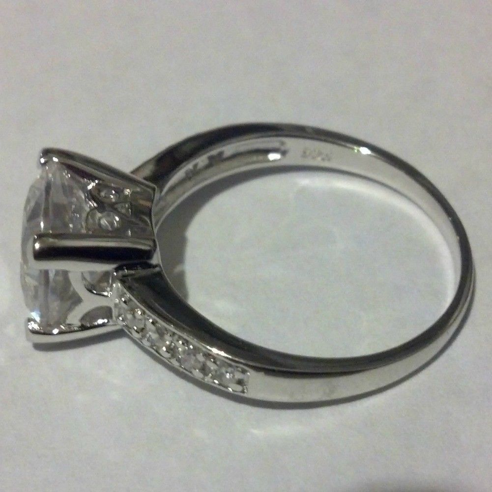 Sterling Silver Ring Size 10 CZ Engagement Wedding Bridal 2 carats New r47