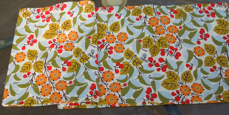 "Hand Made Colorful Cotton Valance Orange, Green, Red, White 124"" W x 11"" L #5025"
