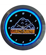 "Mancave Man Cave 15"" Neon Light Wall Clock Sign... - $79.95"