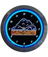 "Mancave Man Cave 15"" Neon Light Wall Clock Sign Hot Rod Retro Garage Art - $79.95"
