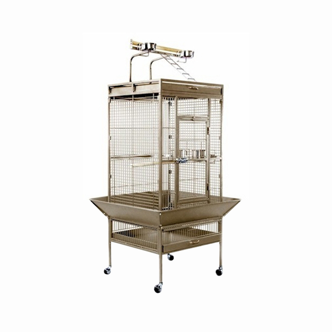 Prevue Hendryx Medium Wrought Iron Select Bird Cage - Pewter 961-PP-3152W