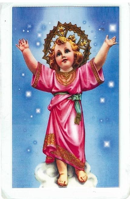 laminated prayer card - divino nino