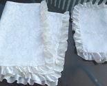 My closet  antiq satin damask white baby blanket and sham see lot 3.09 8 19 13 cl ca 7 oz  4870 f thumb155 crop
