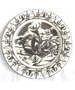 222 Fifth Slice of Life Bad Reindeer Naughty Plate Drinking & Smoking! - $22.95