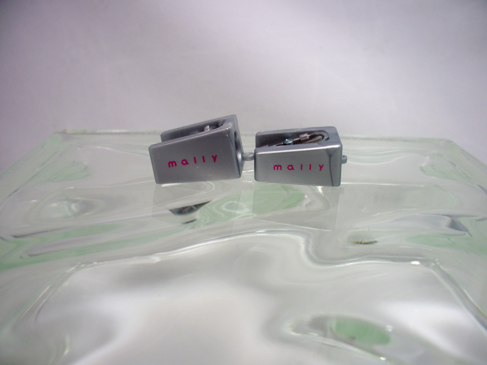 Mally Beautyl Pencil Sharpener set Large & Small opening w/  cleaning pick - $9.95