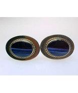 Vintage 12K GOLD-FILLED Men's CUFFLINKS with Genuine Blue Gemstones - HI... - $95.00