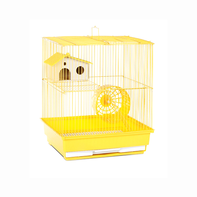 Prevue Hendryx Two Story Hamster and Gerbil Cage - Yellow 961-PP-SP2010Y