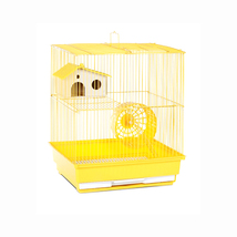 Prevue Hendryx Two Story Hamster and Gerbil Cage - Yellow 961-PP-SP2010Y - $43.36