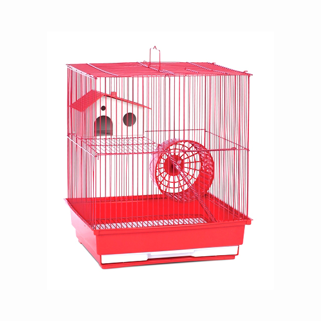 Prevue Hendryx Two Storey Hamster and Gerbil Cage - Red 961-PP-SP2010R