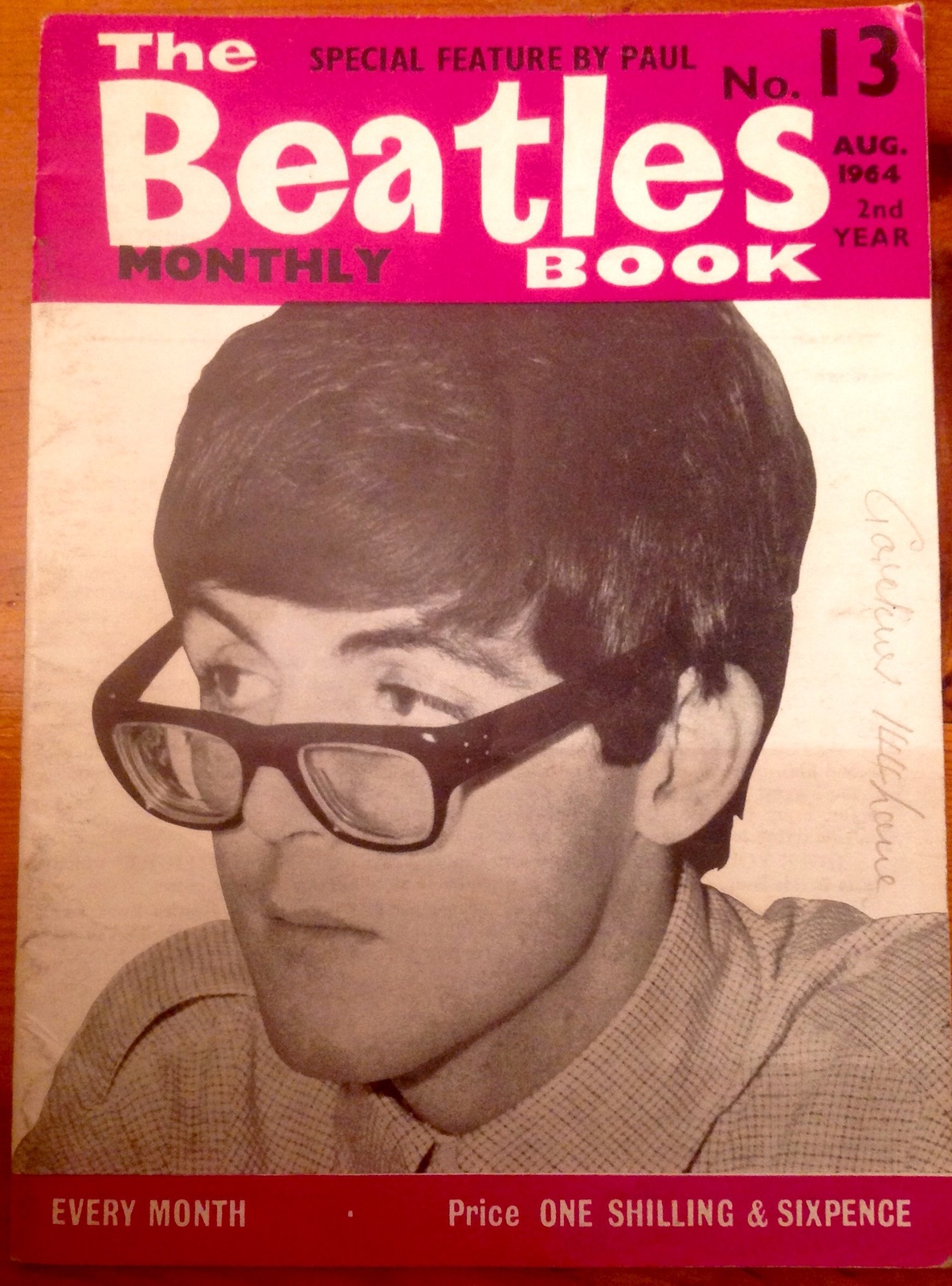 The Beatles Monthly Book Magazine No 13 August 1964 Vintagel