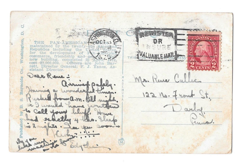 Washington DC Pan American Union Building Vintage Postcard 1926