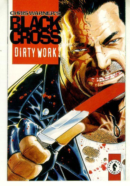 Black cross dirty work